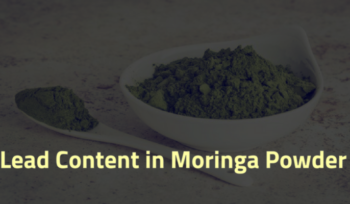 Lead content in moringa leaf powder