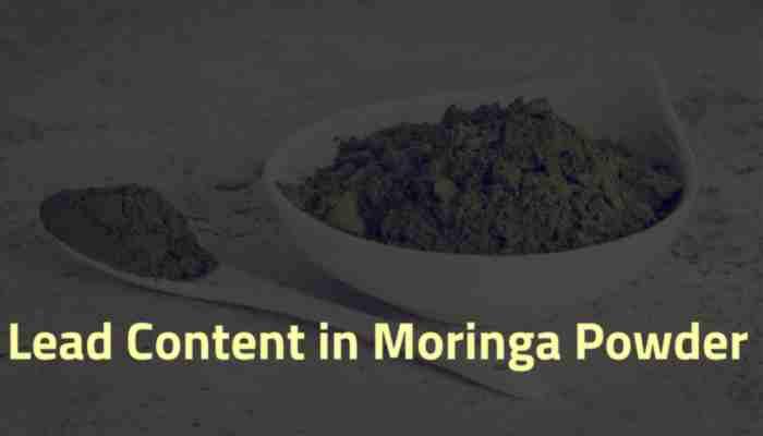 Lead & Heavy Metal Content in Moringa Leaf Powder
